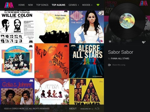 Fania Records Spotify App (PRNewsFoto/Fania Records)