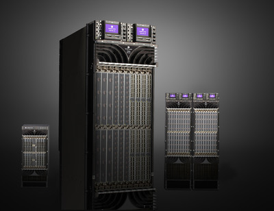 The Alcatel-Lucent 7950 XRS core router family brings a huge boost in capacity, efficiency and flexibility to the heart of Internet Protocol (IP) networks. These routers provide five times the data throughput of existing alternatives while consuming only one-third the electricity.  (PRNewsFoto/Alcatel-Lucent)