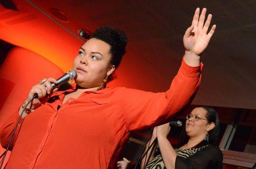 Host Floetic Lara at WOW (Women of the World) festival (PRNewsFoto/Raw Material)
