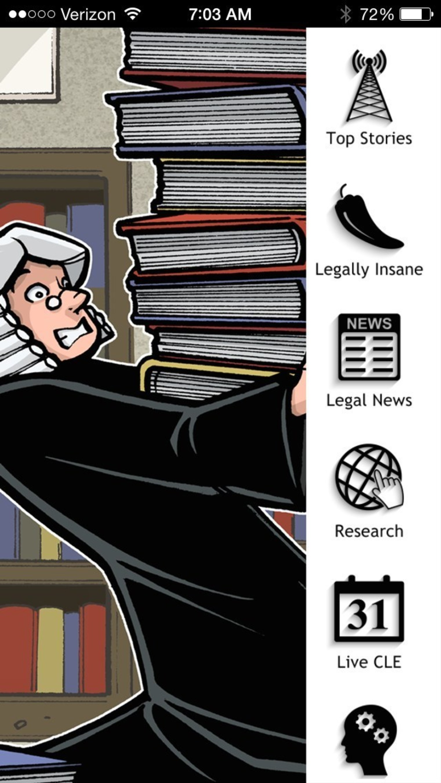Legal Newsance - iPhone and Android home screen