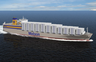 Artist rendering of Matson Kanaloa Class vessel. Courtesy General Dynamics NASSCO