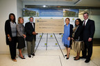 Pictured (l. to r.) at a ceremonial check presentation celebrating MGM Resorts International's pledge of $1 million to the Smithsonian's National Museum of African American History and Culture (NMAAHC) are: Rose McKinney-James, MGM Board Member; Mary Chris Gay, MGM Board Member; Lonnie G. Bunch III, Founding Director of NMAAHC; Alexis Herman, MGM Board Member; Phyllis James, Executive Vice President and Chief Diversity Officer of MGM; and Jim Murren, Chairman & CEO of MGM.