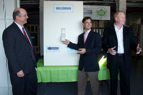 (Left to Right) David Pospisil, program manager of Con Edison's Commercial & Industrial Energy Efficiency ...