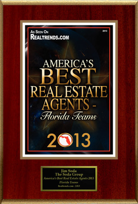 "The Soda Group Selected For ""America's Best Real Estate Agents 2013 - Florida Teams"".  (PRNewsFoto/The Soda Group)"