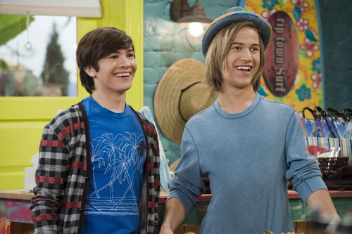 "(Left) Taylor Gray (Bucket) and (Right) Dillon Lane (Skinner) star in the new Nickelodeon series ""Bucket & ..."