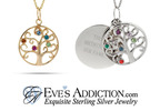 Family Tree Birthstone Pendants.  (PRNewsFoto/EvesAddiction.com)