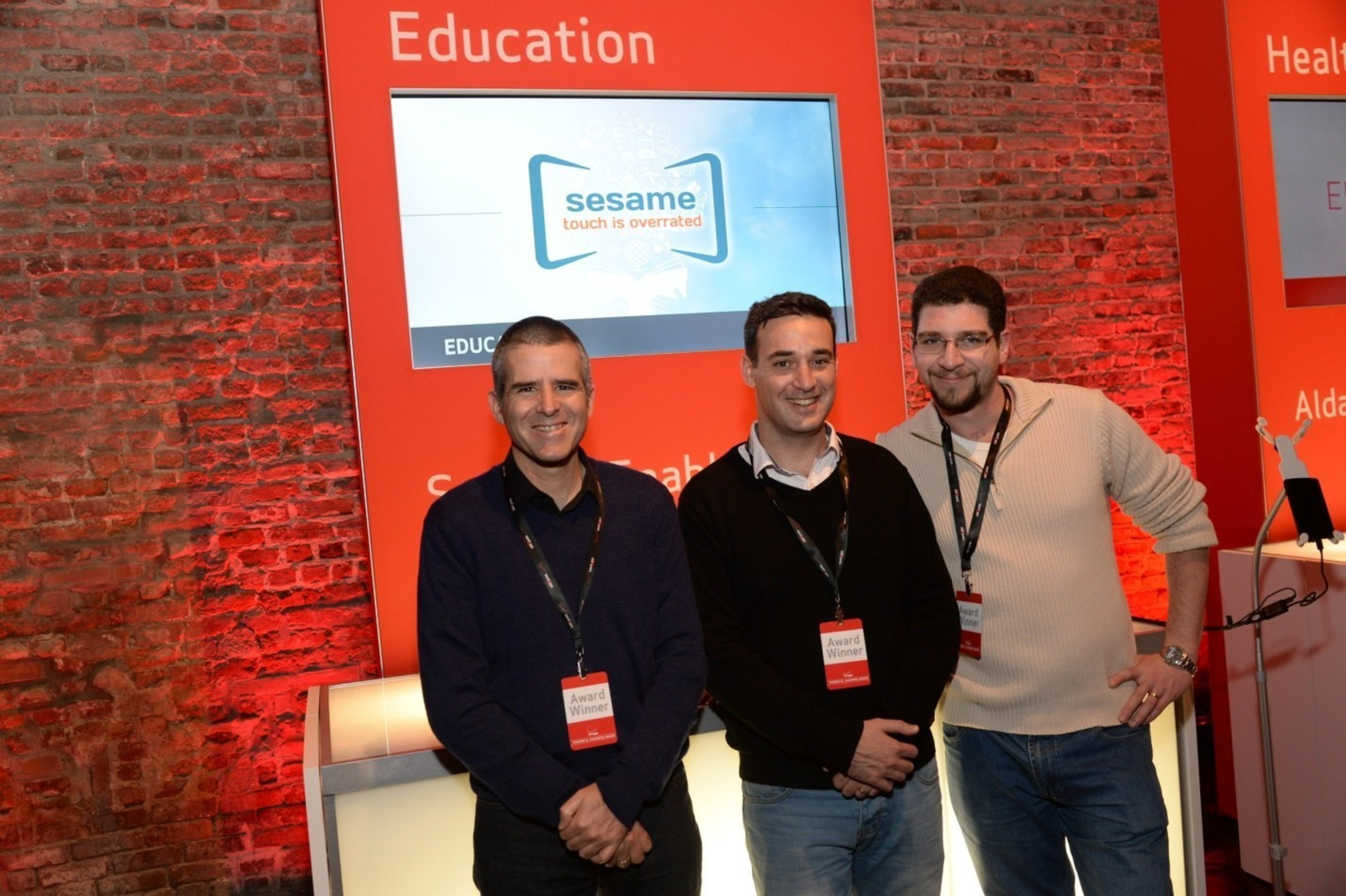 $1M Winner in the education category: Sesame Enable - Based in Israel, this company has developed touch-free smartphone and tablet technology for children and adults for whom touch is not possible. According to Sesame Enable, of the 5.6 million paralyzed people in the U.S., 150,000 are children who cannot move their hands. The technology integrates with games and applications and allows those children access to educational opportunities previously inaccessible to them.
