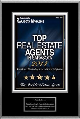 "Jane Rees Selected For ""Top Real Estate Agents In Sarasota"" (PRNewsFoto/American Registry)"