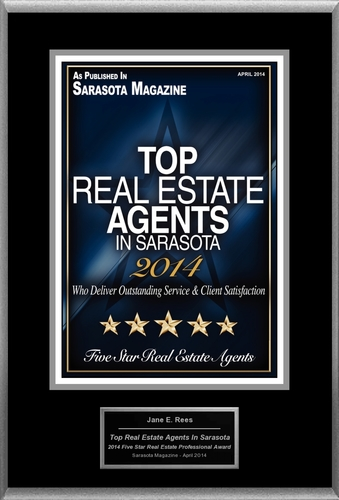 "Jane Rees Selected For ""Top Real Estate Agents In Sarasota"" (PRNewsFoto/American Registry)"