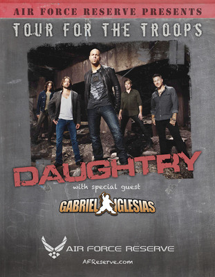 "Daughtry to headline holiday ""Tour for the Troops"" with special guest Gabriel Iglesias.  (PRNewsFoto/Blaine Warren Advertising)"