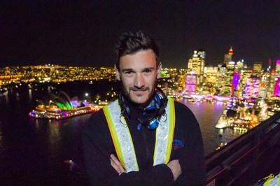 Hugo Lloris at the summit of Sydney Harbour Bridge Destination NSW