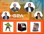 G2A Co-founders Bartosz Skwarczek (CEO) and Dawid Rozek (CMO), Patryk Kadlec, the G2A Head of Business Development and Yao Song, the Chinese Region Manager at G2A announcing G2A 3D+ in Taipei Game Show 2016. (PRNewsFoto/G2A.com)