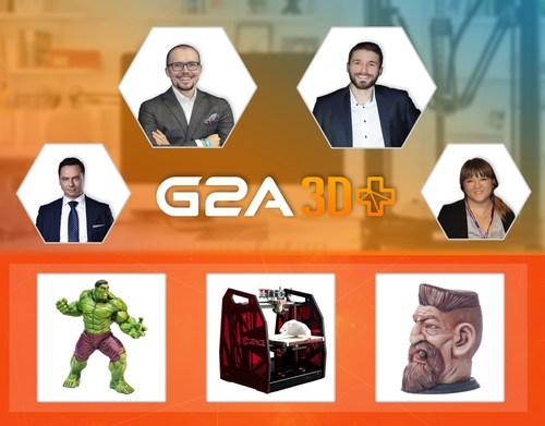 G2A Co-founders Bartosz Skwarczek (CEO) and Dawid Rozek (CMO), Patryk Kadlec, the G2A Head of Business ...