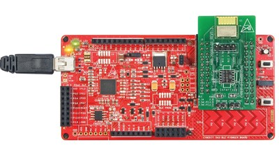 Pictured is the EZ-BLE PSoC Module Eval Board and BLE Pioneer Kit from Cypress Semiconductor Corp. The fully certified, easy-to-use, end-to-end solution reduces time-to-market and costs for IoT products and a wide range of wireless applications.