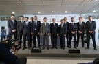 Hankook Tire and Real Madrid FC today officially signed their global partnership contract and were joined by some of the first squad players among them Karim Benzema, Nacho Fernandez Isco and Danilo. (PRNewsFoto/Hankook Tire Europe GmbH)