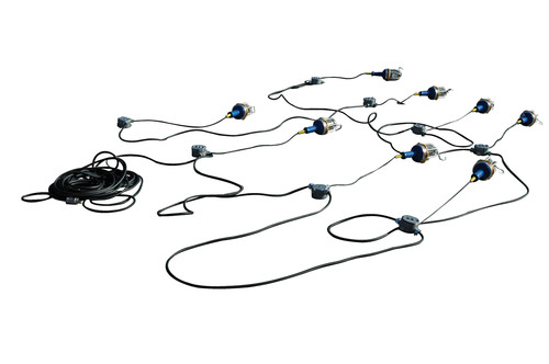 This 80 watt explosion proof LED string light set from Magnalight produces a total combined output of 8400 ...
