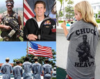 A montage of Charlie Keating pictures displaying the t-shirt that commemorates his legacy.