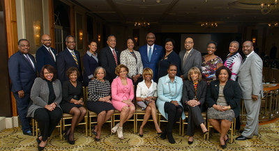 The Executive Leadership Council's (ELC) Board of Directors with Board Chair (bottom row - 3rd from right) Rhonda Mims, Managing Director, Corporate Social Responsibility, Paul Hasting, LLP.