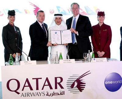 QATAR AIRWAYS JOINS ONEWORLD.  (PRNewsFoto/Qatar Airways)