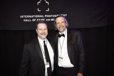 John and Thomas Knoll, co-creators of Adobe Photoshop and brothers, celebrate their induction into the International Photography Hall of Fame and Museum, located in St. Louis, Mo.