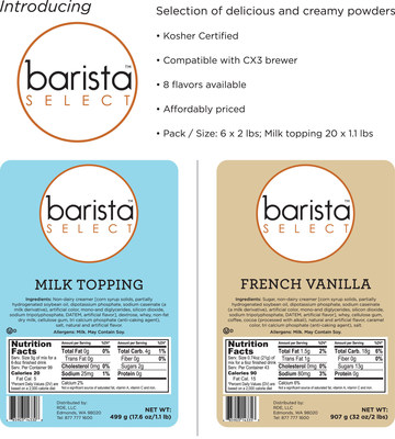 To download Barista Select sell sheet please go to:http://www.wpcoffee.com/html/BARISTA%20SELECT_SellSheet.pdf