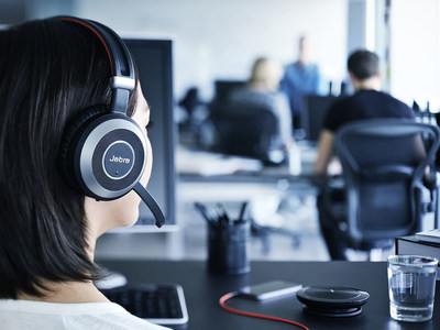Jabra Boosts Productivity in Noisy Work Environments with New Product Line, Jabra Evolve (PRNewsFoto/Jabra)