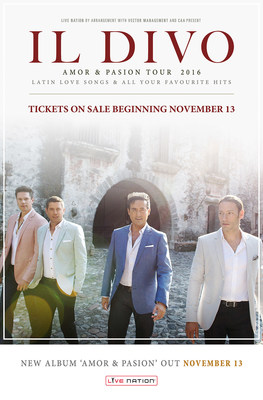 Live nation entertainment il divo to bring amor pasion tour to north america - Il divo discography ...