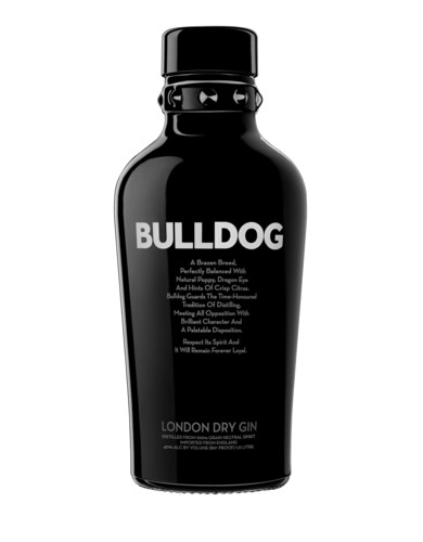 Multi-award winning BULLDOG is quadruple distilled in traditional copper pot stills, infused with a melange of 12 botanicals from eight countries, and is handcrafted in England. BULLDOG is 40% abv and comes in an iconic deep charcoal grey coloured bottle with broad shoulders and an iconic studded collar.  This 'Defiantly Delicious' gin is considered to be one of the fastest growing super-premium gins in the world.  (PRNewsFoto/BULLDOG London Dry Gin)