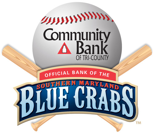 Community Bank Of Tri-County Is The Official Bank Of The Southern Maryland Blue Crabs.  (PRNewsFoto/Community Bank of Tri-County)