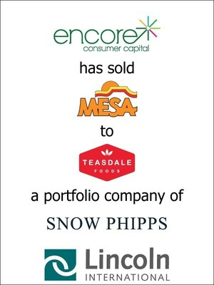 Lincoln International represents Encore Consumer Capital and Management in the sale of Mesa Foods, LLC to Teasdale Foods, a portfolio company of Snow Phipps Group