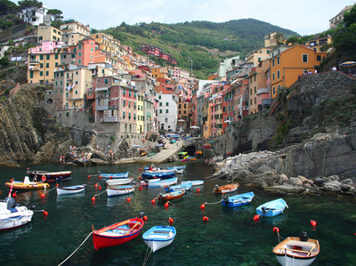 The village of Riomaggiore in Cinque Terre, Italy.  (PRNewsFoto/Crystal Cruises)