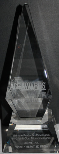 Xilinx Wins Prestigious 2013 EE Times and EDN ACE Award for World's First Heterogeneous All