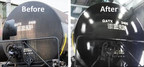 """Oxidized tank car """"Before and After"""" with Nano-Clear Industrial coating - fully protected"""