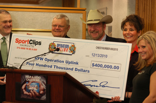Sport Clips to Help Troops Call Home This Holiday With Largest Gift to Date to VFW's Operation