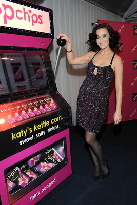 katy perry hosts the katy's casino popchips event to launch her new popchips flavor -- katy's kettle corn -- in west hollywood, ca.  (PRNewsFoto/popchips)