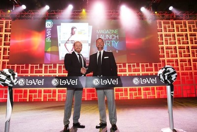 Le-Vel Co-Founders, Co-CEOs and Co-Owners Jason Camper and Paul Gravette take the stage at Le-Vel's SUCCESS FROM HOME magazine launch event held April 29 and 30 at the Gaylord Texan.