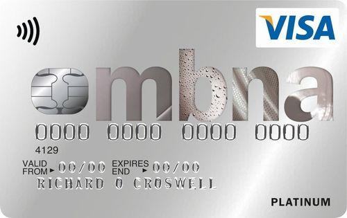 The MBNA Platinum Credit Card (PRNewsFoto/MBNA Limited)