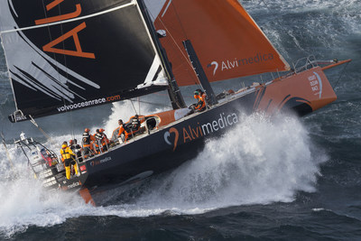 USA's Team Alvimedica sails around world for heart health - It's American Heart Month and the USA entry in the Volvo Ocean Race today announced a World Heart Health Charity Tour to benefit 10 heart charities at the 10 race ports around the world. The USA stop is in Newport, RI, May 5-17.  The race's youngest team, Team Alvimedica is led by skipper Charlie Enright, Bristol, RI. Image by Gilles Martin-Raget.