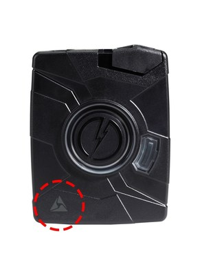 Axon Flex body worn camera controller with Signal Enabled Logo.