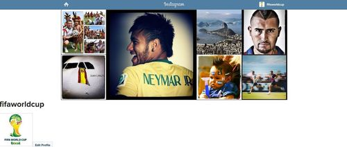 Official FIFAWorldCup account on Instagram (PRNewsFoto/FIFA)