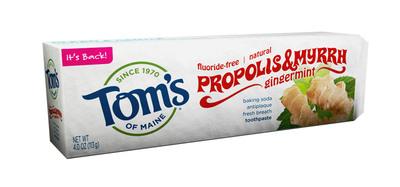 Tom's of Maine Brings Back Popular Proplis & Myrrh Gingermint Baking Soda Toothpaste.  (PRNewsFoto/Tom's of Maine)