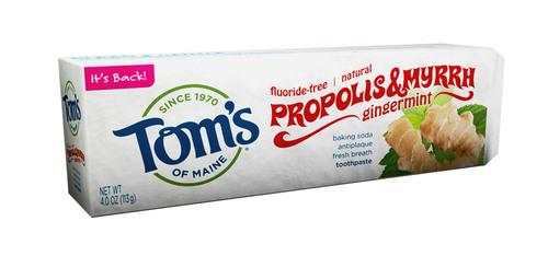 Tom's of Maine Brings Back Popular Proplis & Myrrh Gingermint Baking Soda Toothpaste