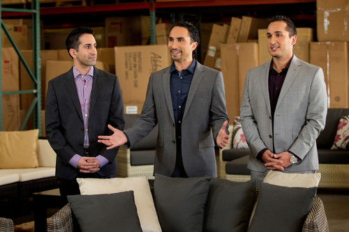 """Brothers Doddy, Yavar, and Rodd Rafieha Featured on TNT's """"Inside Job."""" (PRNewsFoto/Abbyson Living)  ..."""