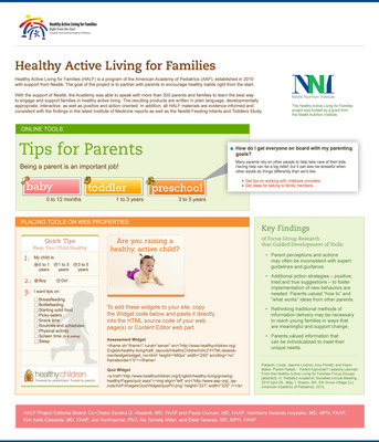 Learn more about the AAP's Healthy Active Living for Families (HALF)  program, developed with support from Nestlé.