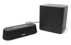 Toshiba's plug-and-play Mini 3D Sound Bar with Subwoofer offers consumers a simple way to introduce robust audio to their entertainment experience in the home by delivering a total peak power of 90 watts.  (PRNewsFoto/Toshiba America Information Systems, Inc.)