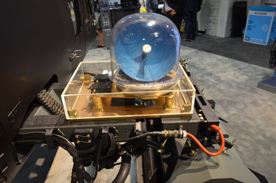Showcased at AUSA 2015, the Hughes Airborne SATCOM System featuring the new HM200 Modem installed on a NorthStar Aviation Bell 407 Multi-role Helicopter.