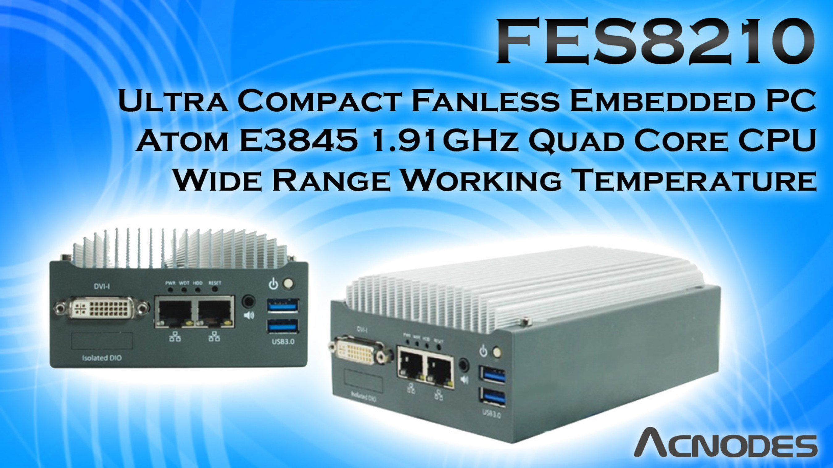 Palm Size Fanless Embedded PC for Implementation In Space Constraint Environments