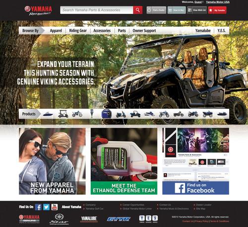 Yamaha Launches a new web site -- yamahapartsandaccessories.com -- in time for the holidays. (PRNewsFoto/Yamaha Motor Corporation U.S.A.) (PRNewsFoto/YAMAHA MOTOR CORPORATION U.S.A.)