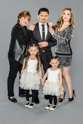 Reparto de la quinta temporada de la exitosa serie reality de NBC UNIVERSO: Dona Manuela, Larry Hernandez, Kenia Ontiveros y sus hijas Daleyza y Dalary Hernandez (PRNewsFoto/NBC UNIVERSO)
