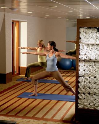 Yoga for beginning to advanced practitioners is slated for Crystal's January 8 Mind, Body & Spirit cruise across the Pacific.  (PRNewsFoto/Crystal Cruises)